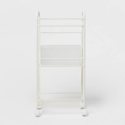 Metal Shower Caddy Tower with Removable Plastic Caddy White - Room Essentials™
