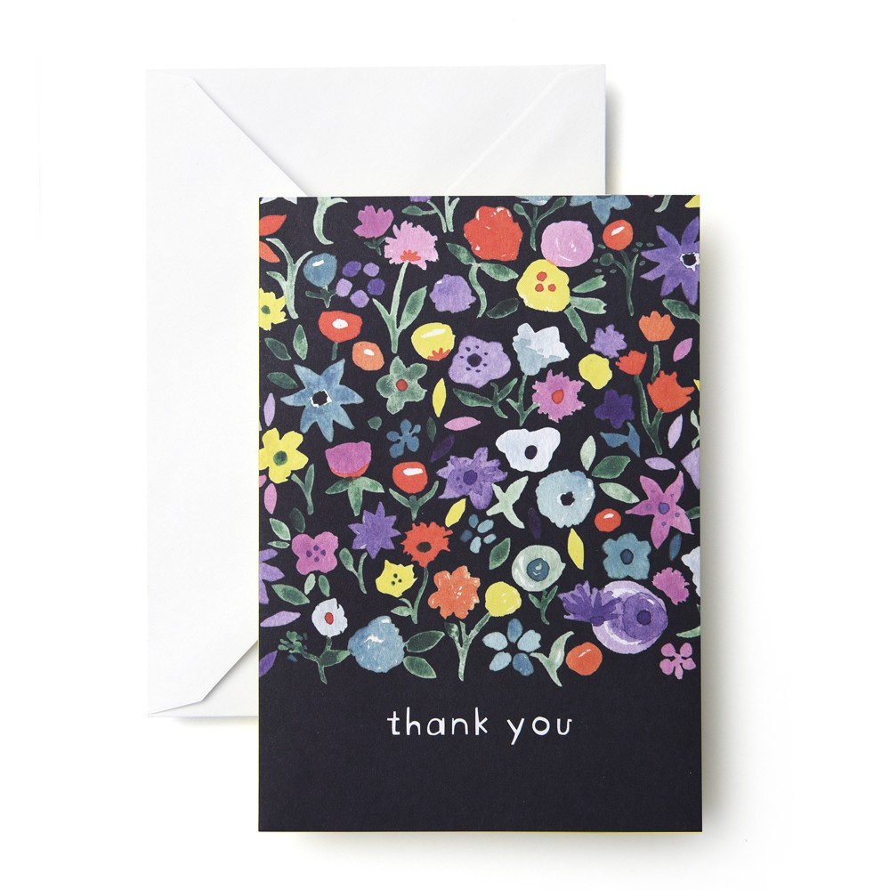 "Image of ""24ct """"Thank You"""" Flower Card - Mara Mi"""