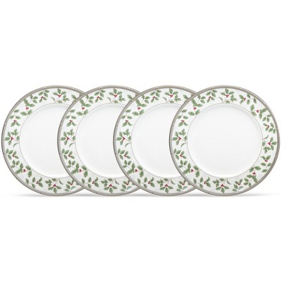 Noritake Rochelle Set of 4 Holiday Accent Plates