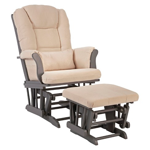 Stork Craft Tuscany Gray Glider and Ottoman - Beige - image 1 of 1