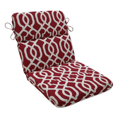 Outdoor Rounded Chair Cushion Red, Outside Patio Chair Cushions