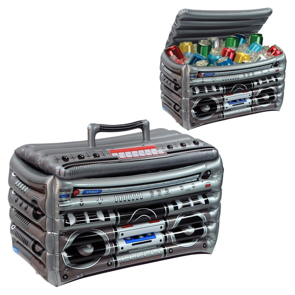 Image of Inflatable Boom Box Cooler, Gray