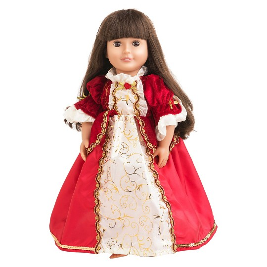 Little Adventures Doll Dress - Winter Beauty, Size: One Size, Red image number null