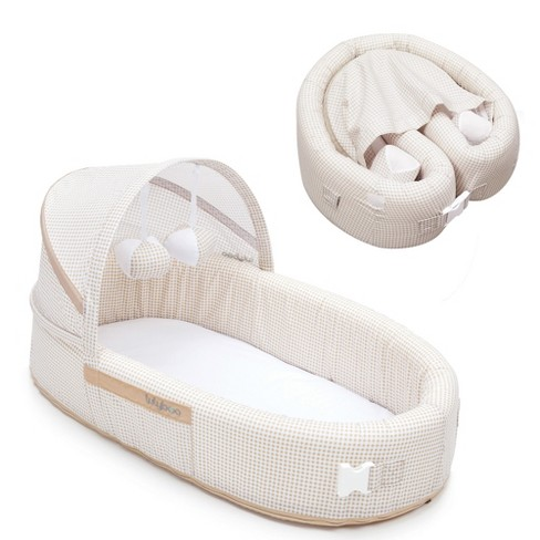 Lulyboo Portable Baby Bassinet To Go Infant Travel Sleeper Natural