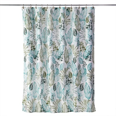Sprouted Palm Shower Curtain Green - SKL Home