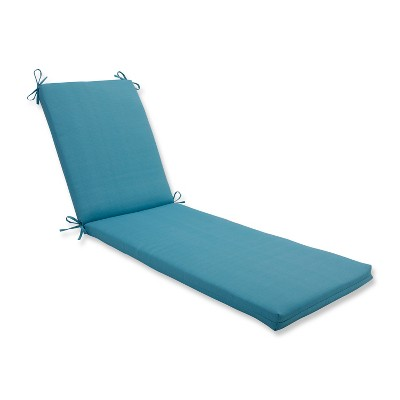 Indoor/Outdoor Forsyth Pool Blue Chaise Lounge Cushion - Pillow Perfect