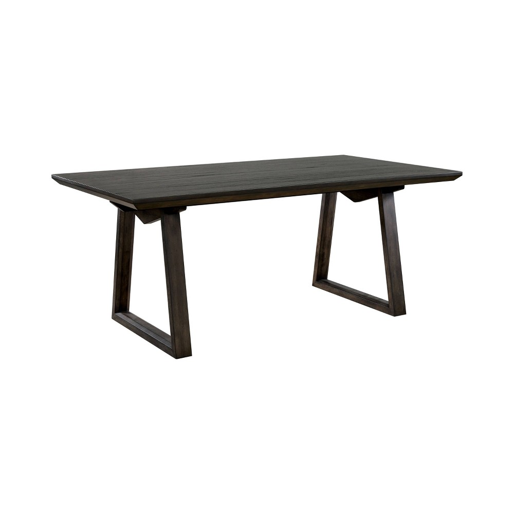 """Image of """"72"""""""" Algona Rectangular Dining Table Dark Walnut - HOMES: Inside + Out, Brown"""""""