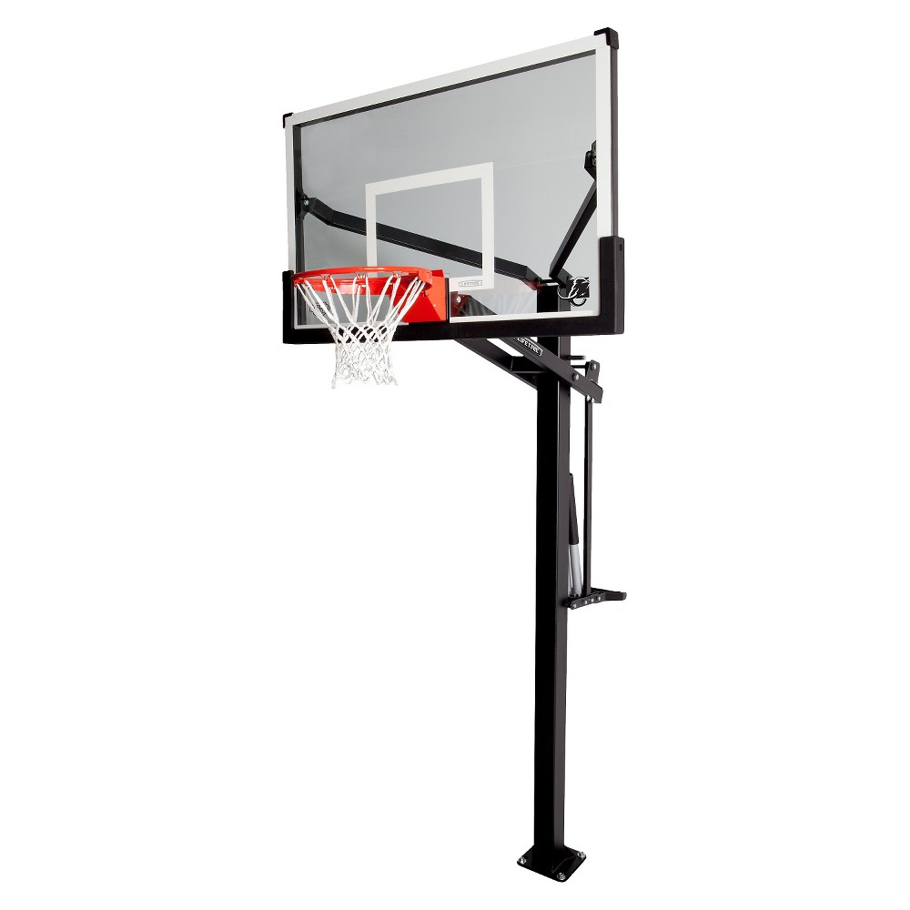 Lifetime Mammoth 54 Basketball Hoop, Black