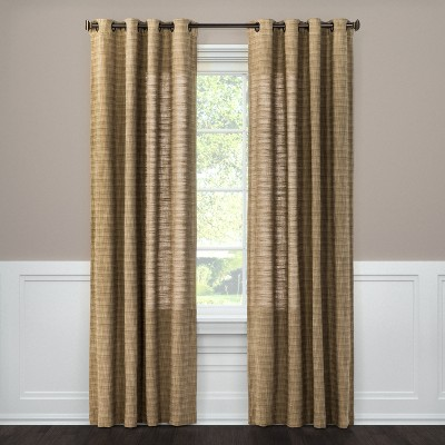 Textured Weave Window Curtain Panel Brown (54 X84 )- Threshold™