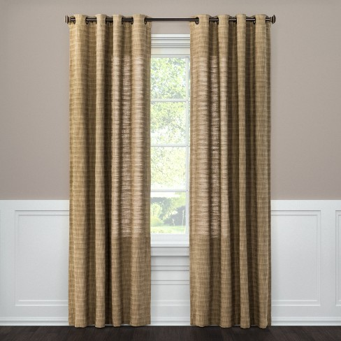 Textured Weave Window Curtain Panel Brown 54 Quot X84