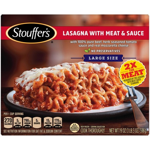 Stouffer's Frozen Lasagna with Meat & Sauce - 19oz - image 1 of 4
