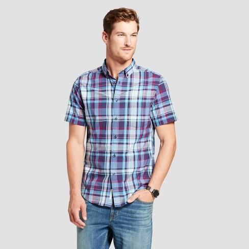 Men's Short Sleeve Poplin Button-Down Shirt - Goodfellow & Co™ - image 1 of 3