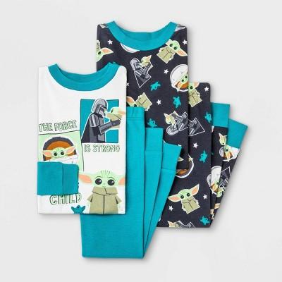 Toddler Boys' 4pc Star Wars Pajama Set - Blue