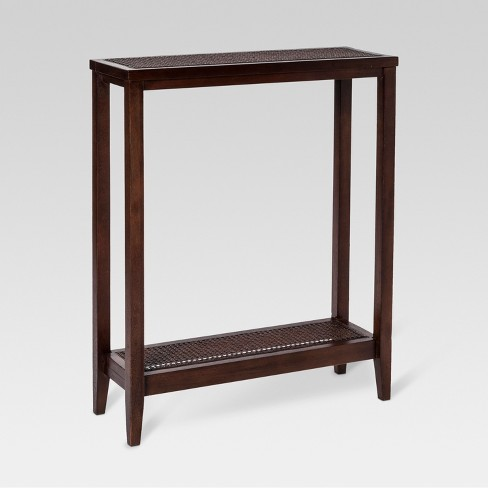 Wood Rattan Console Table Threshold