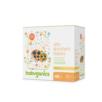 Babyganics Diapers, Club Pack - Newborn (96ct)