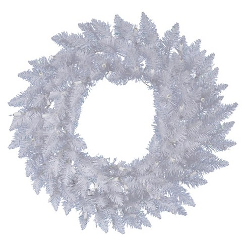 "48"" Christmas Spruce Wreath - Sparkle White - image 1 of 1"