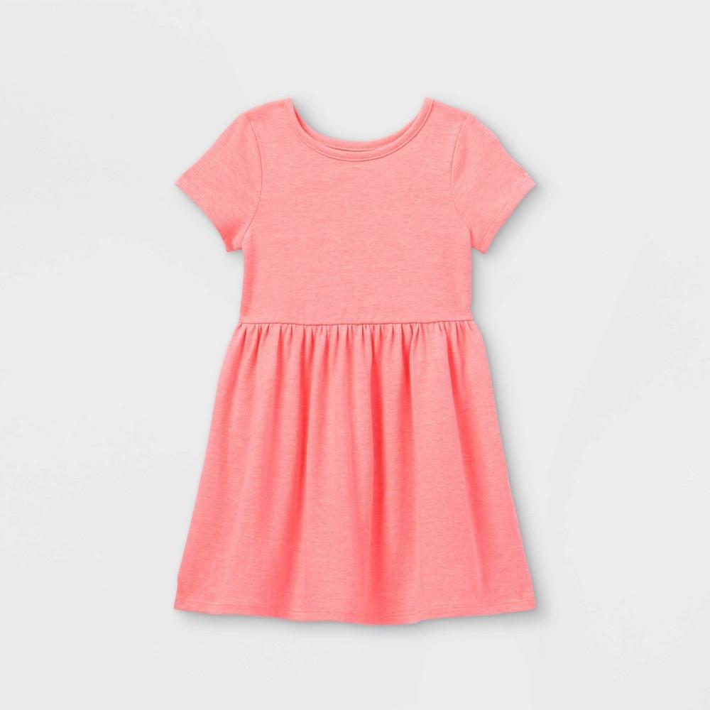 Toddler Girls 39 Solid Knit Short Sleeve Dress Cat 38 Jack 8482 Pink 2t