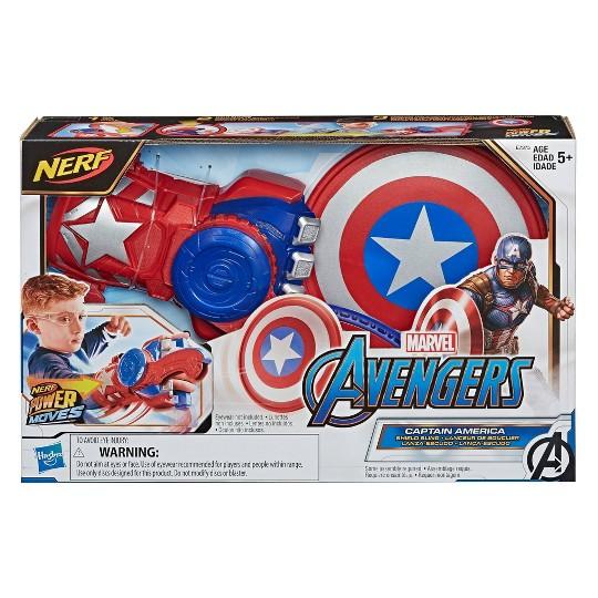 NERF Power Moves Marvel Avengers Captain America Shield Sling image number null