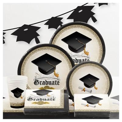 Graduation Cap & Gown Party Supplies Collection