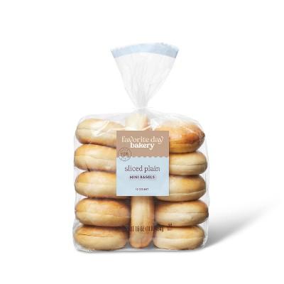 Plain Sliced Mini Bagels - 16oz/12ct - Favorite Day™