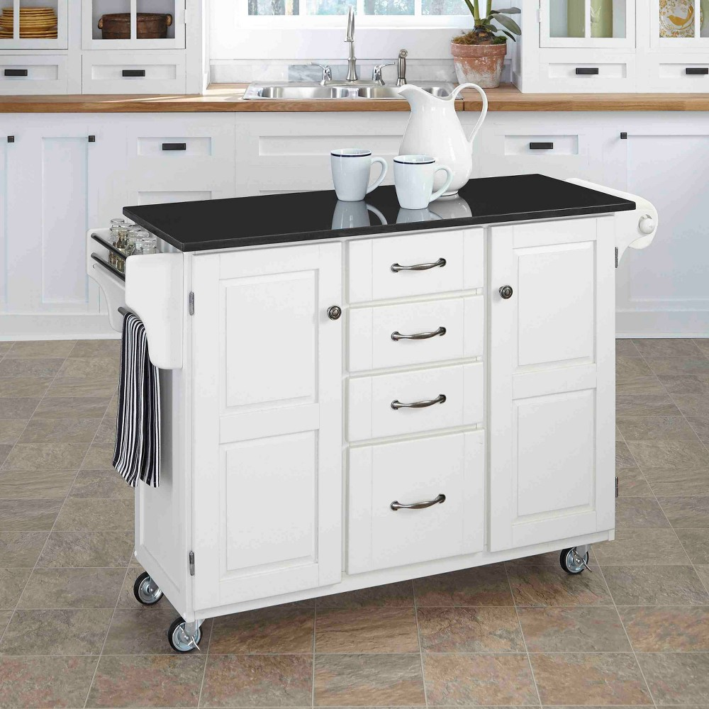 Kitchen Carts And Islands with Granite Top Black - Home Styles