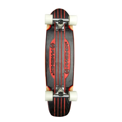 "Punisher Skateboards Engraved Longboard Skateboard - Red (28"") - image 1 of 5"