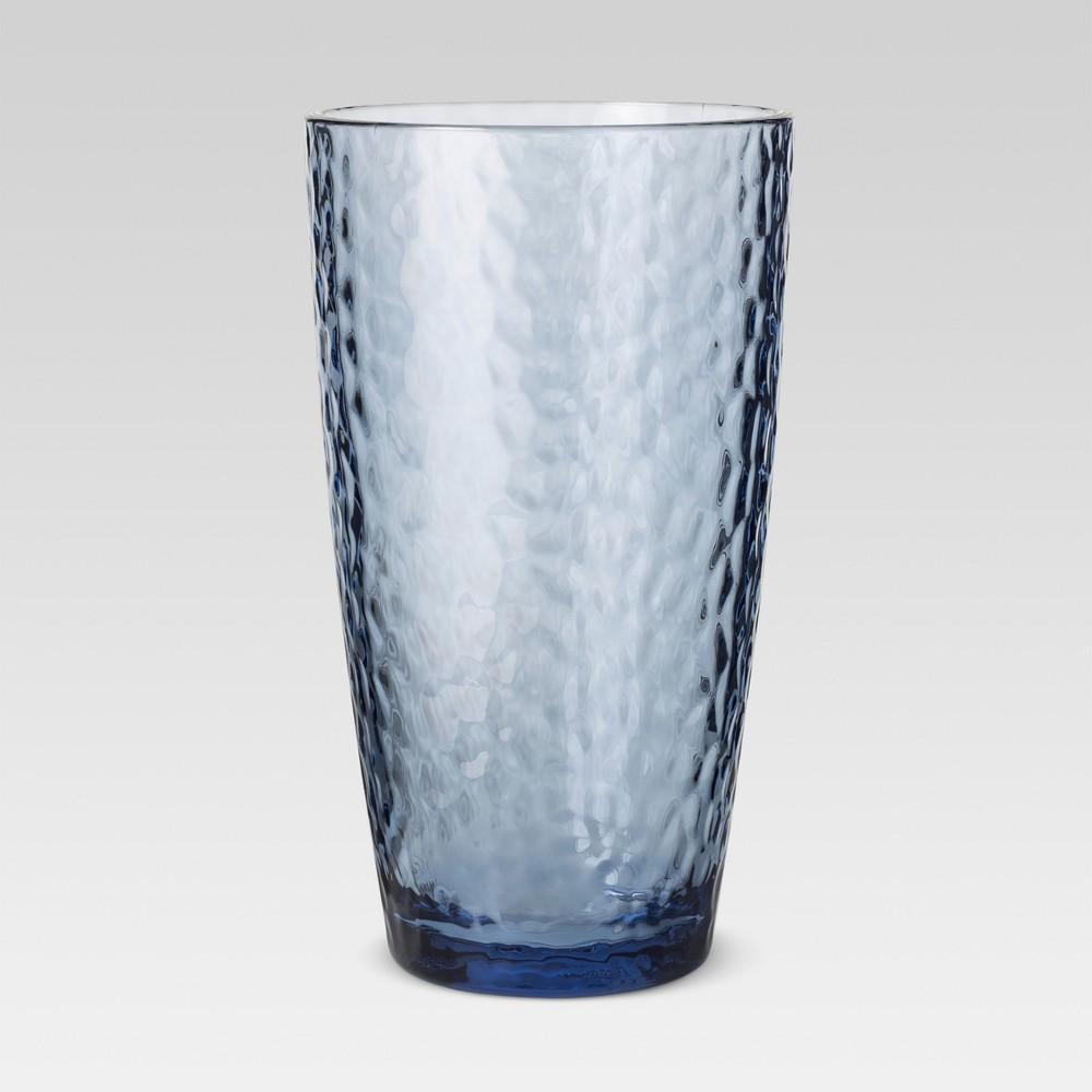 Plastic Textured Tall Tumbler 18oz Blue - Threshold