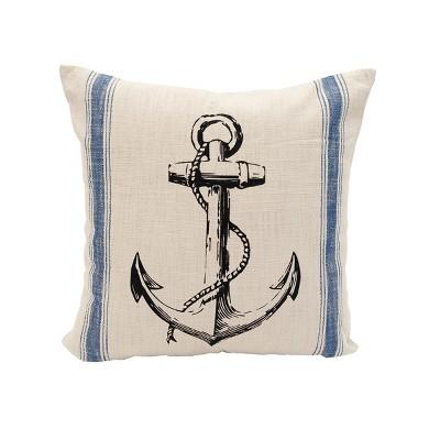 "C&F Home 20"" x 20"" Anchor Feed Sack Feed Sack Throw Pillow"