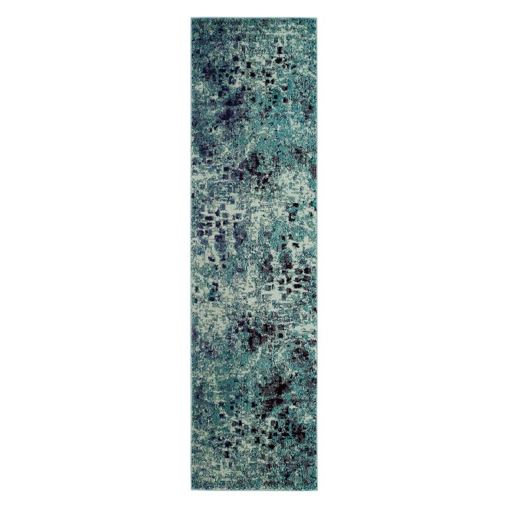 2'2X6' Shapes Runner Light Blue - Safavieh, Light Blue/Multi-Colored