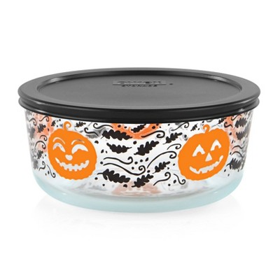 Pyrex 56oz Glass Pumpkin Food Storage Container