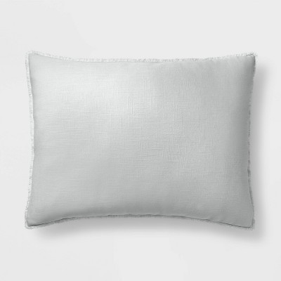 King Euro Heavyweight Linen Blend Throw Pillow Light Gray - Casaluna™