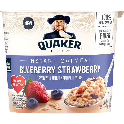 Quaker Instant Oatmeal Cup Blueberry & Strawberry - 1.69oz