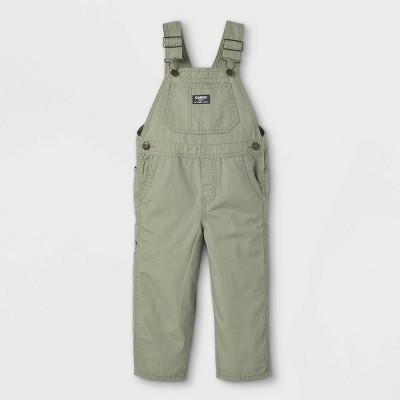 OshKosh B'gosh Toddler Boys' Canvas Overalls - Olive Green