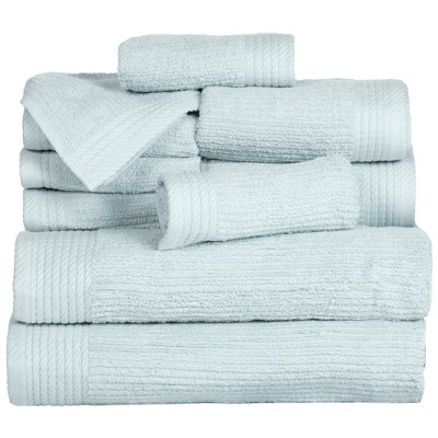Solid Bath Towels And Washcloths 10pc Seafoam - Yorkshire Home