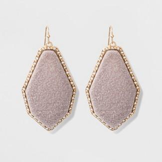 SUGARFIX by BaubleBar Luminous Druzy Drop Earrings - Light Gray