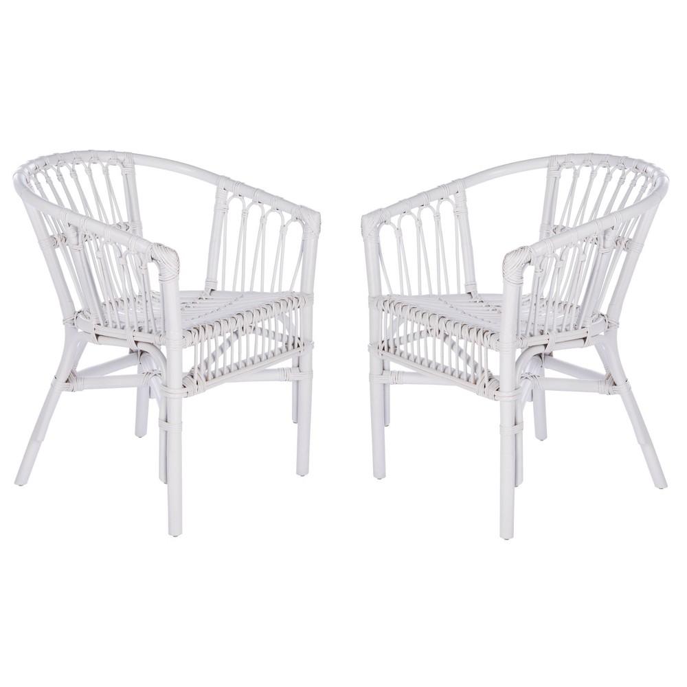 Set Of 2 Adriana Accent Chairs White Safavieh