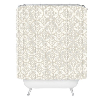 Little Arrow Design Co Modern Moroccan Shower Curtain - Deny Designs