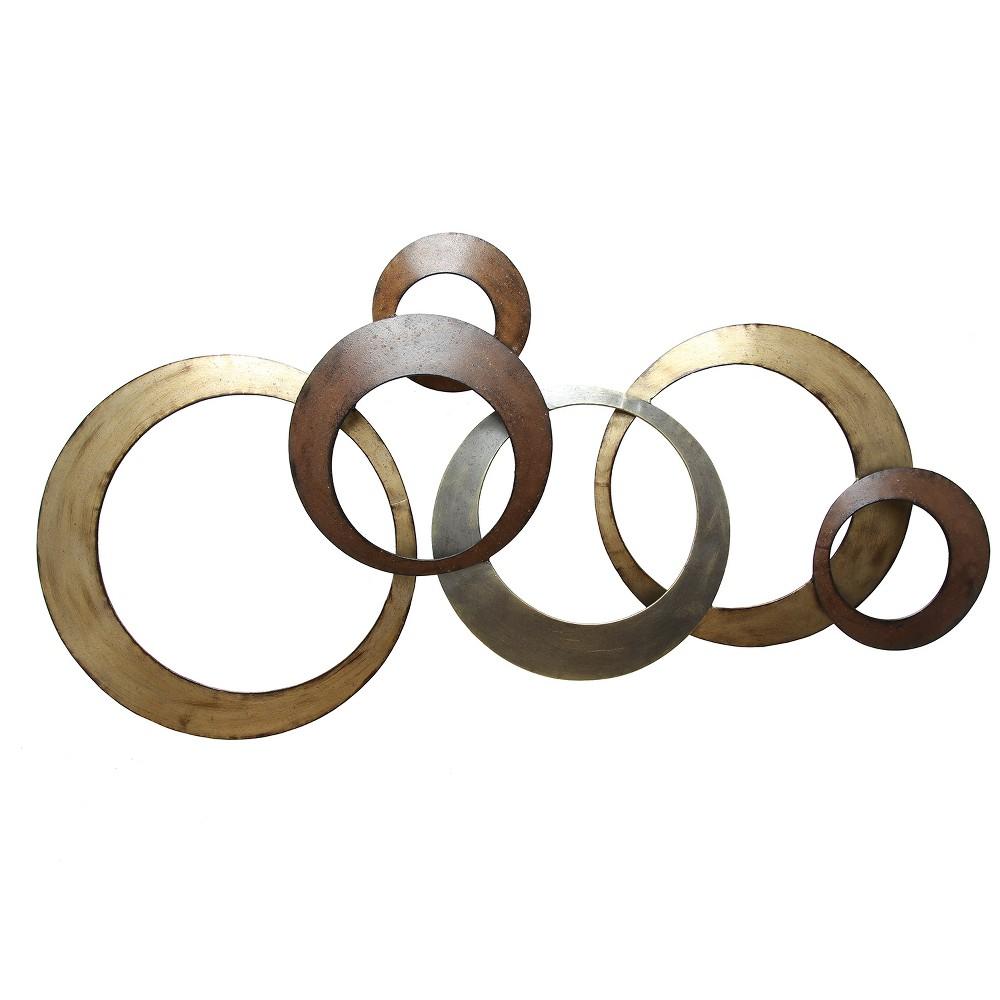 Metallic Rings Wall Decor - Stratton Home Decor, Medium Gold