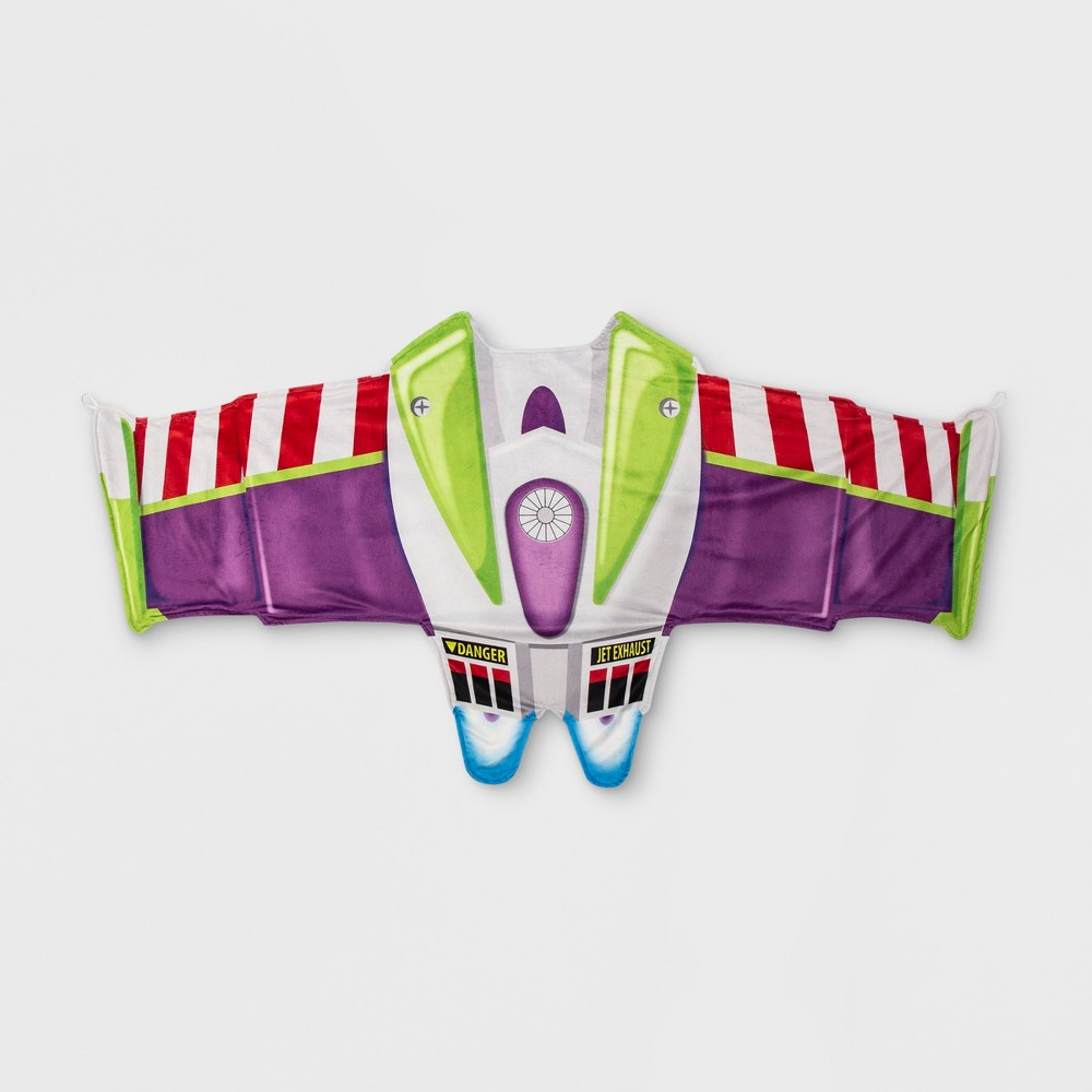 Toy Story Buzz Lightyear Twin Cozy Wings Throw Blanket Green
