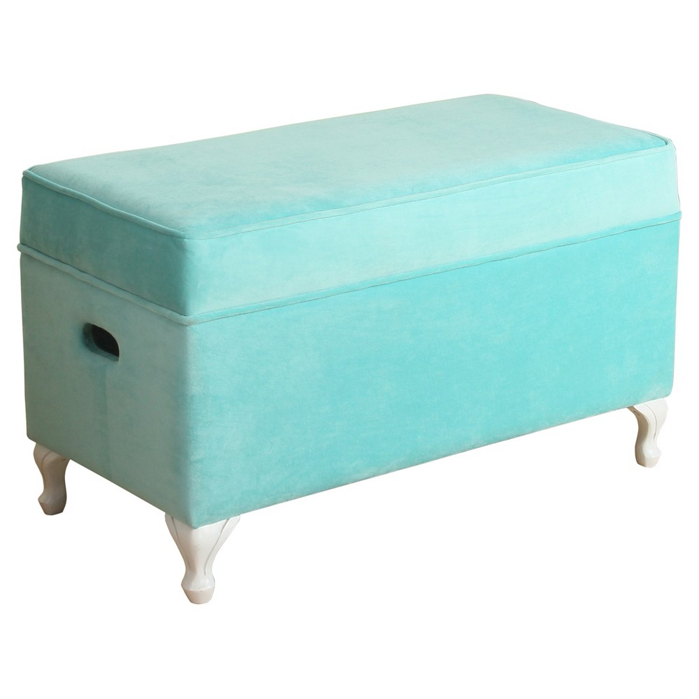 Image of Diva Decorative Storage Bench Kids Storage Ottoman Aqua - Homepop, Blue