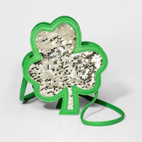 9e65aa5cbb12 Girls  Clover Flip Crossbody Bag - Cat   Jack™ Green   Target