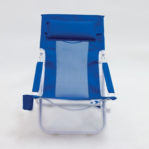 Outdoor Portable Beach Chair - Blue - Evergreen - image 1 of 3