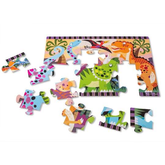 Melissa & Doug Dinosaur Dawn Jumbo Jigsaw Floor Puzzle (24pc, 2 x 3 feet) image number null