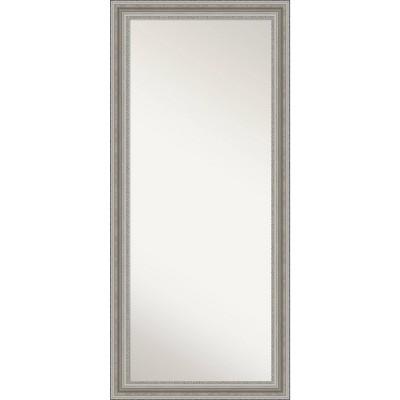 "30"" x 66"" Parlor Silver Framed Full Length Floor/Leaner Mirror - Amanti Art"