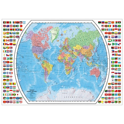 Political World Map 1000pc Puzzle Target