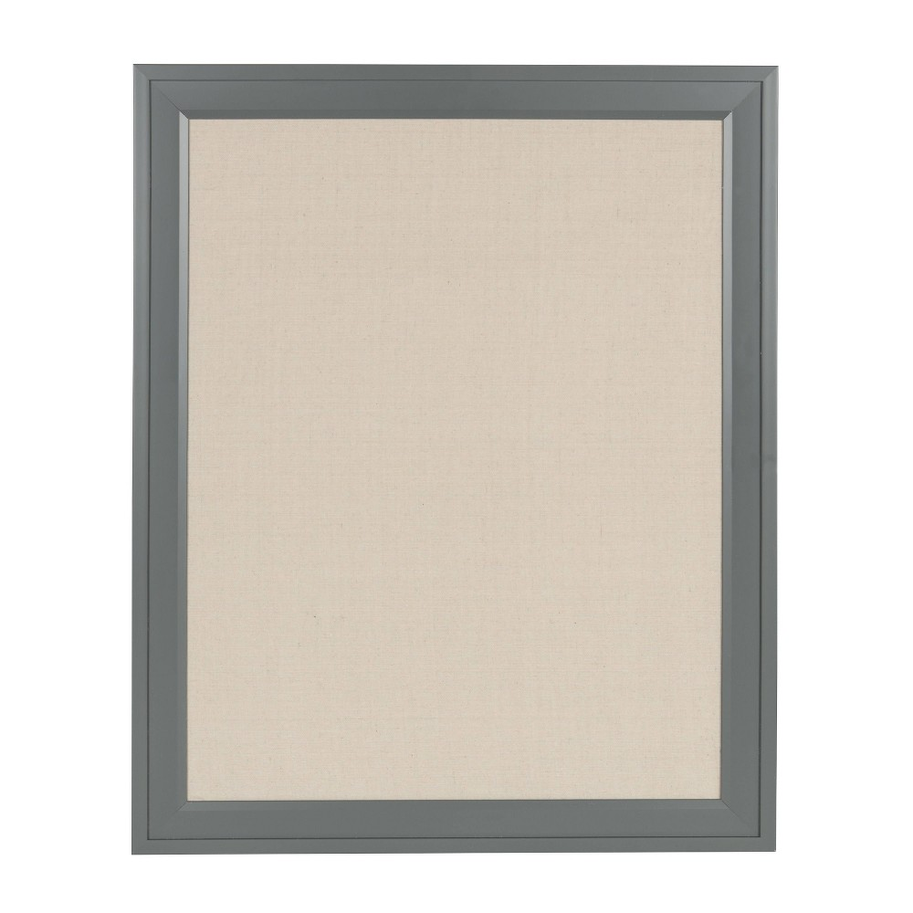 "Image of ""20"""" x 26"""" Bosc Fabric Pinboard Gray - DesignOvation"""