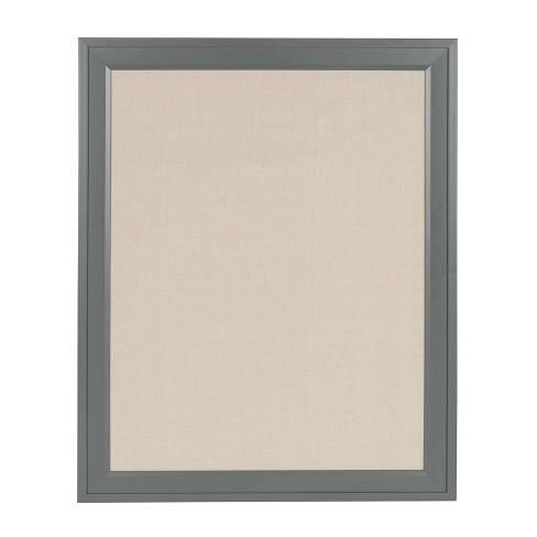"24"" x 30"" Bosc Framed Linen Fabric Pinboard Gray - DesignOvation - image 1 of 4"