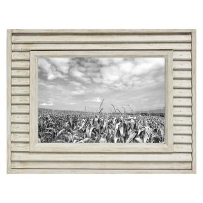 5  x 7  Slim Louvered Frame White Wood - Threshold™