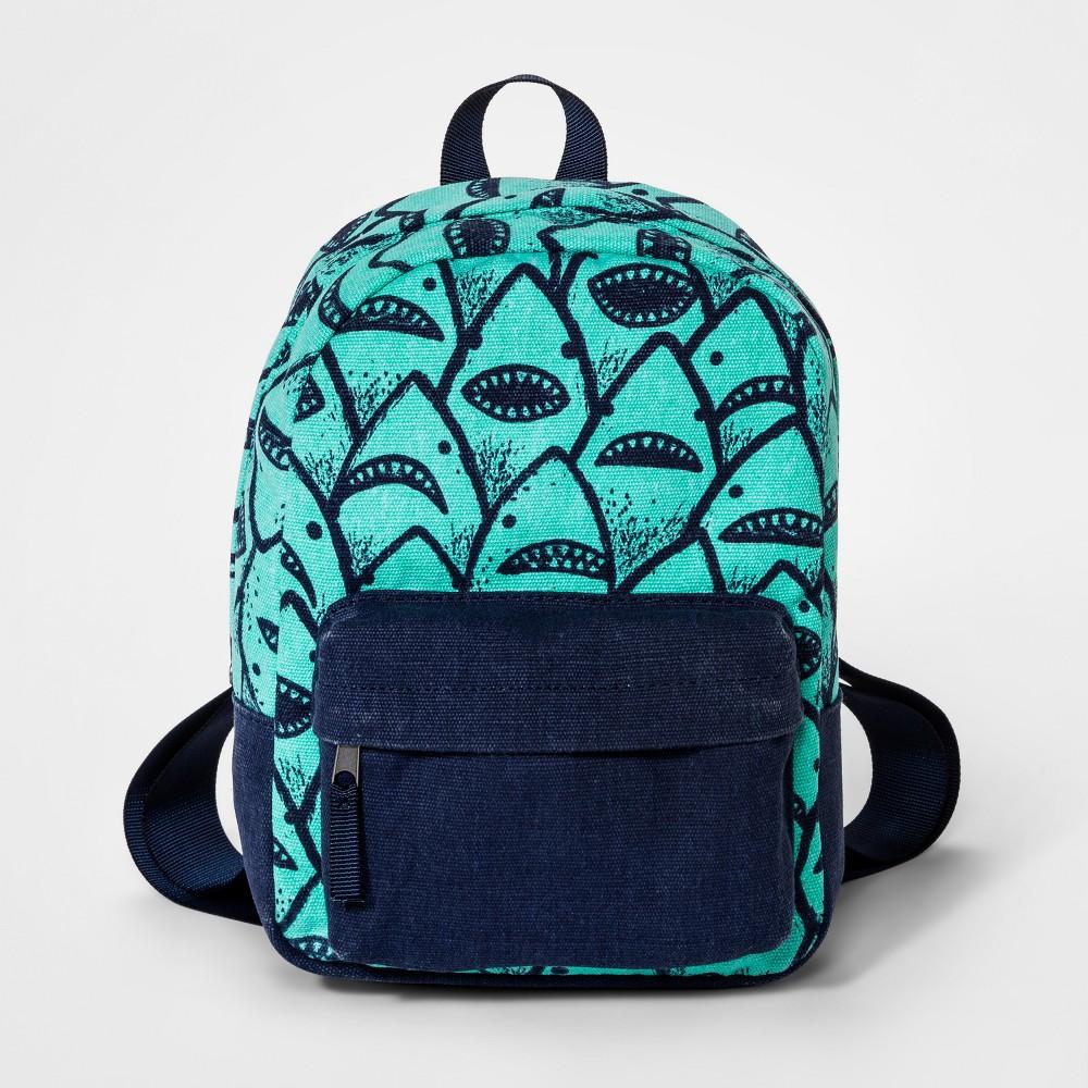 Toddler Boys' Shark Print Backpack - Cat & Jack Blue