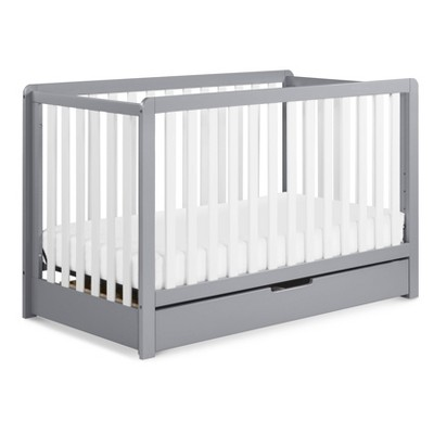 Carter's by DaVinci Colby 4-in-1 Convertible Crib with Trundle Drawer - Gray and White